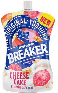 Breaker cheese cake framboos